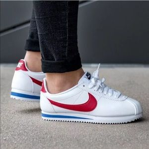 Women's Nike Cortez Leather Varsity Red Sneakers